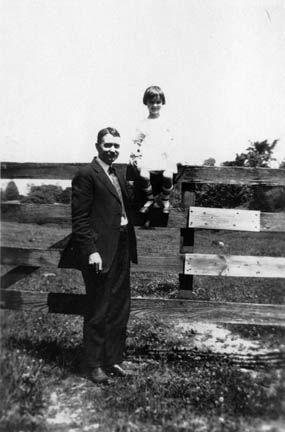 Burton Davis and daughter
